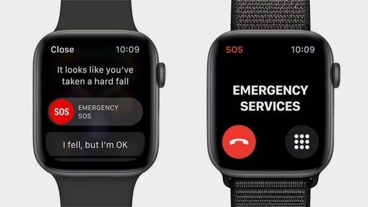 best apple watch for seniors - it alerts fall and display notification