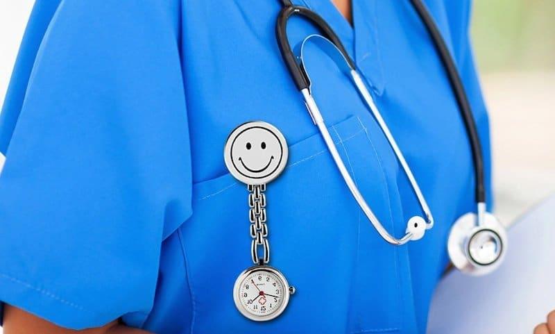 hanging nurses watch - nurses pocket watch - fob nurses watch - clip-on nurses watch
