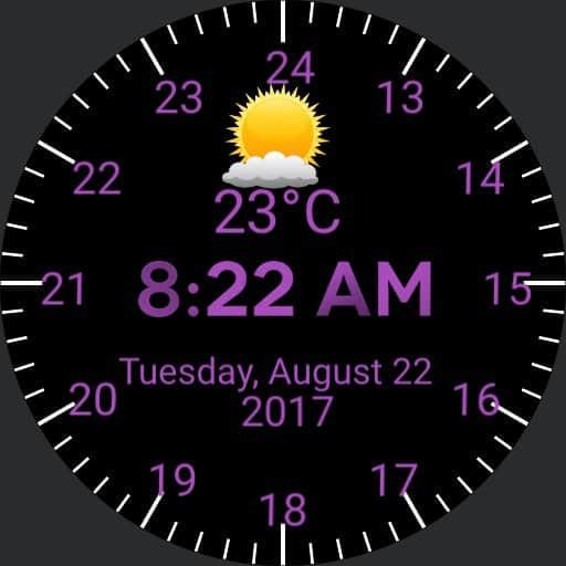 24 hour military time display