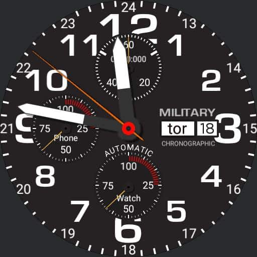 military time watch faces