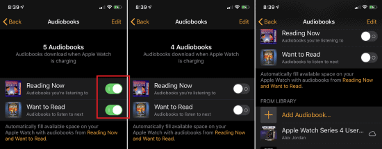 How to free up space on Apple Watch - ways to save and restore memory - how to manage storage on apple watch - remove audiobooks