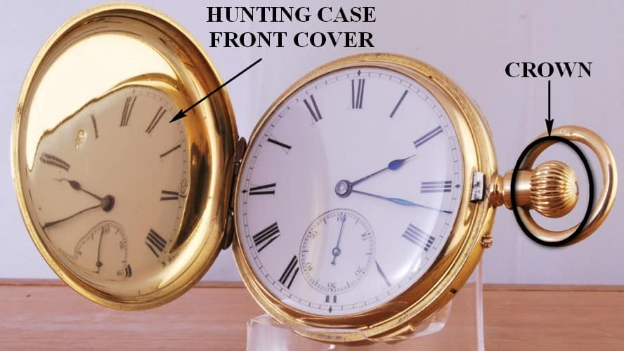 how to open a hunter case pocket watch