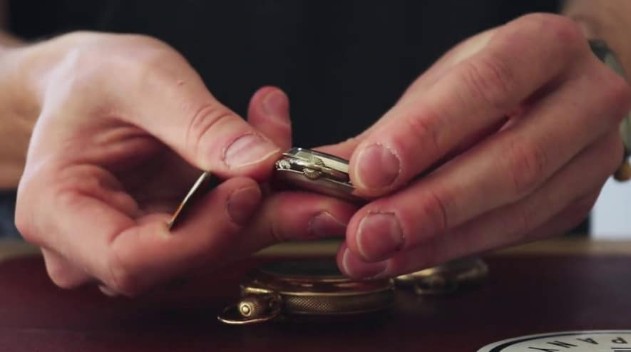 how to open pocket watches