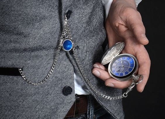 How to wear a pocket watch with waistcoat - traditional style